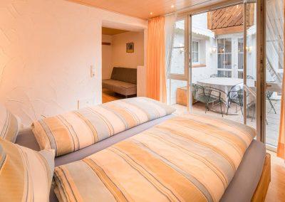 Schlafzimmer Ferienwohnung Oberstdorf