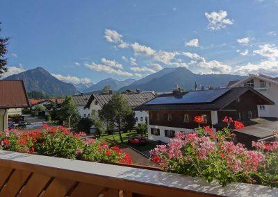 Oberstdorf Blick vom Balkon