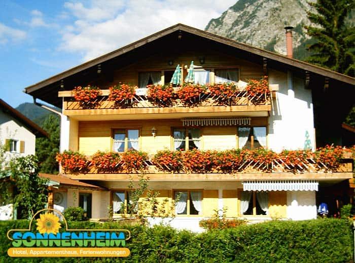 Im Sonnenheim Ferienhotel finden Sie geräumige Ferienwohnungen in Oberstdorf