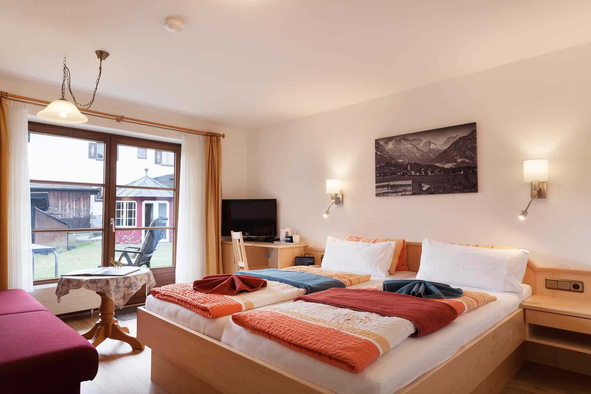 Sonnenheim Hotel Garni Doppelzimmer mit Balkon