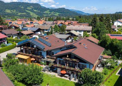 Sonnenheim Hotel Oberstdorf Ansicht von oben