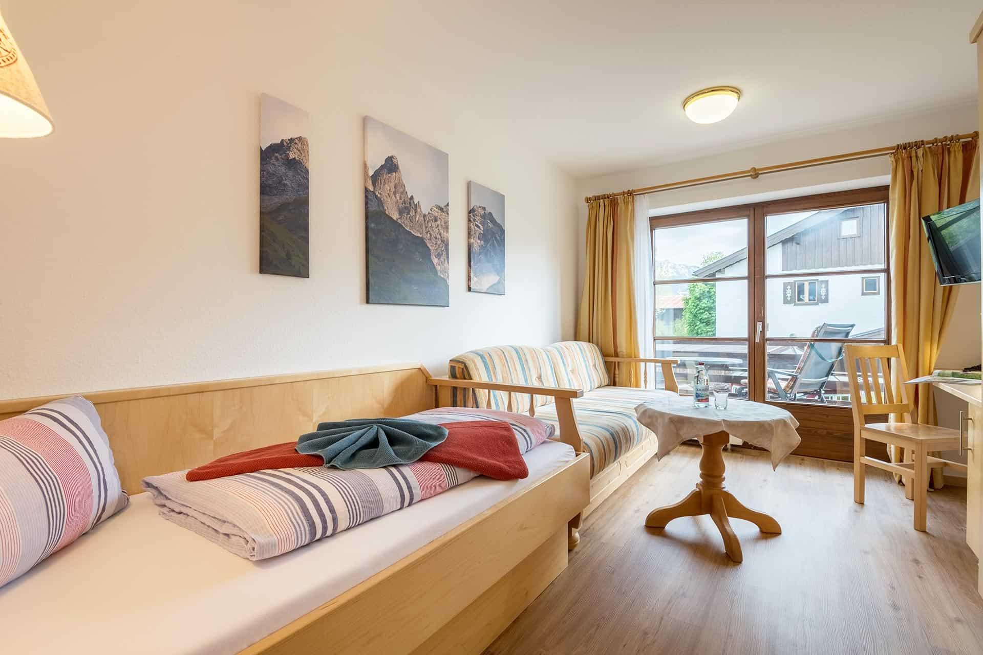 Sonnenheim Hotel Garni Einzelzimmer mit Balkon