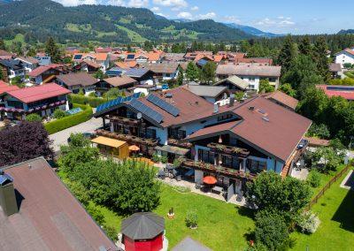 Hotel Sonnenheim Oberstdorf Luftaufnahme