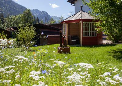 Hotel Sonnenheim Oberstdorf Pavillion Garten
