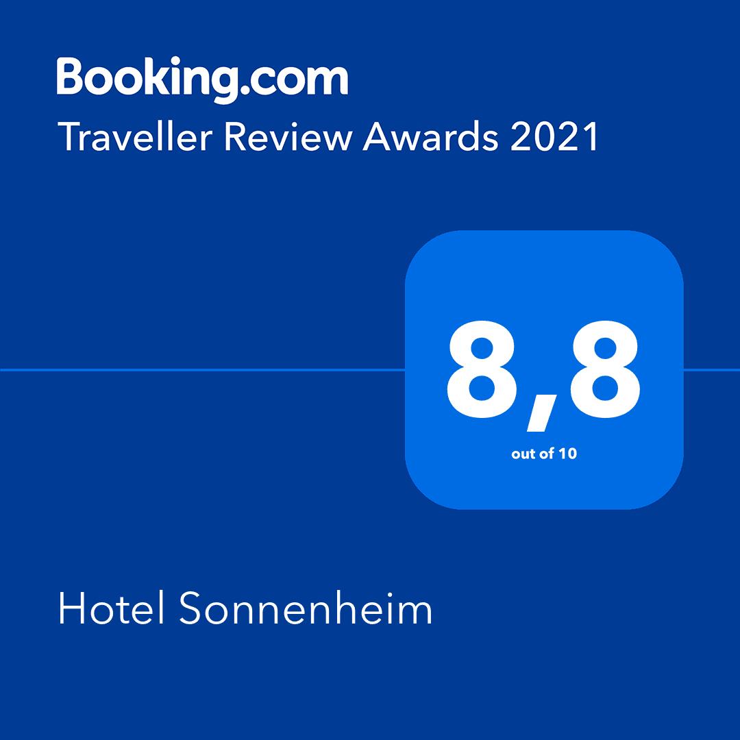 Booking.com Award 2021 Hotel Sonnenheim Oberstdorf
